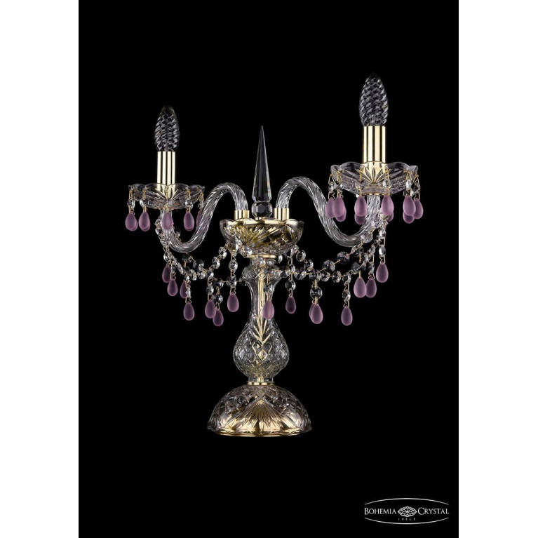 Настольная лампа Bohemia Ivele 1410L/2/141-39/G/V7010