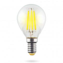 Лампа светодиодная E14 6W 2800К прозрачная VG10-G1E14warm6W-F 7021