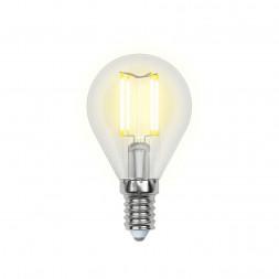 Лампа светодиодная филаментная (UL-00000197) E14 6W 3000K прозрачная LED-G45-6W/WW/E14/CL