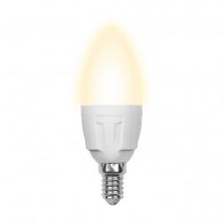 Лампа светодиодная (10214) E14 6W 3000K матовая LED-C37-6W/WW/E14/FR/O