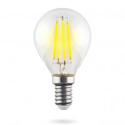 Лампа светодиодная E14 6W 4000К прозрачная VG10-G1E14cold6W-F 7022