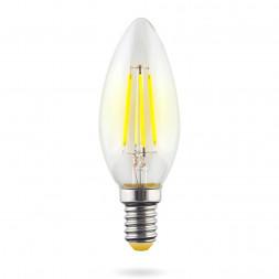 Лампа светодиодная E14 6W 4000К прозрачная VG10-C1E14cold6W-F 7020