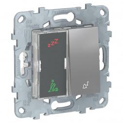 Дисплей гостиничного номера и кнопочный звонок Schneider Electric Unica New NU577730
