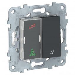 Дисплей гостиничного номера и кнопочный звонок Schneider Electric Unica New NU577754