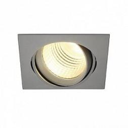Светильник встраиваемый NEW TRIA SQUARE DLMI 28Вт, 3000K, 60°, 2000lm, серебристый 113704