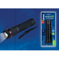 Ручной светодиодный фонарь Uniel (UL-00000791) от батареек 181х46 60 лм S-LD046-C Black
