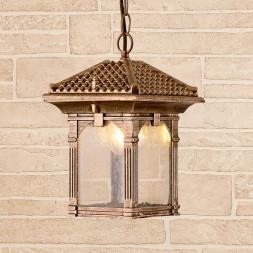 Уличный подвесной светильник Elektrostandard Corvus H черное золото GL 1021H 4690389138201