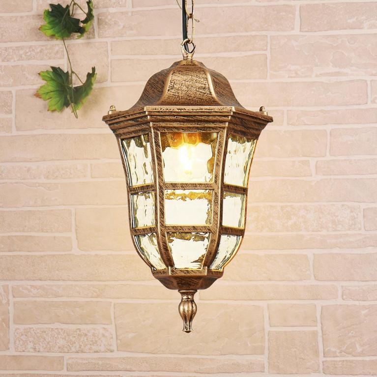 Уличный подвесной светильник Elektrostandard Dorado H черное золото GL 1013H 4690389135972