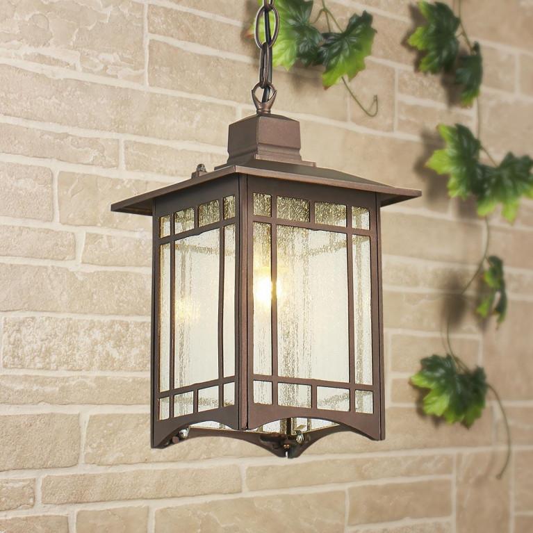 Уличный подвесной светильник Elektrostandard Vela H кофейное золото GL 1019H 4690389136023