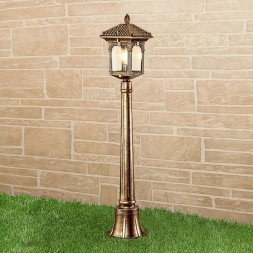 Уличный светильник Elektrostandard Corvus F черное золото GL 1021F 4690389138232