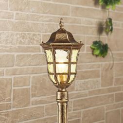 Уличный светильник Elektrostandard Dorado F черное золото GL 1013F 4690389135958