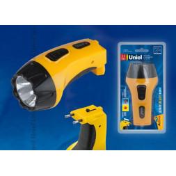 Фонарь светодиодный с зарядкой от сети Uniel (09048) аккумуляторный S-RB011-BA Yellow