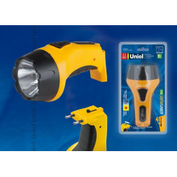 Фонарь светодиодный с зарядкой от сети Uniel (09049) аккумуляторный S-RB012-BA Yellow