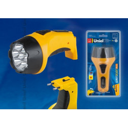 Фонарь светодиодный с зарядкой от сети Uniel (09050) аккумуляторный S-RB013-BA Yellow