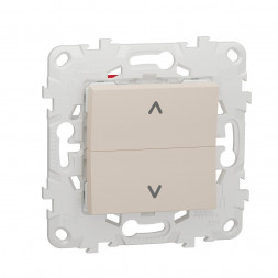 Выключатель двухклавишный Schneider Electric Unica New NU520744