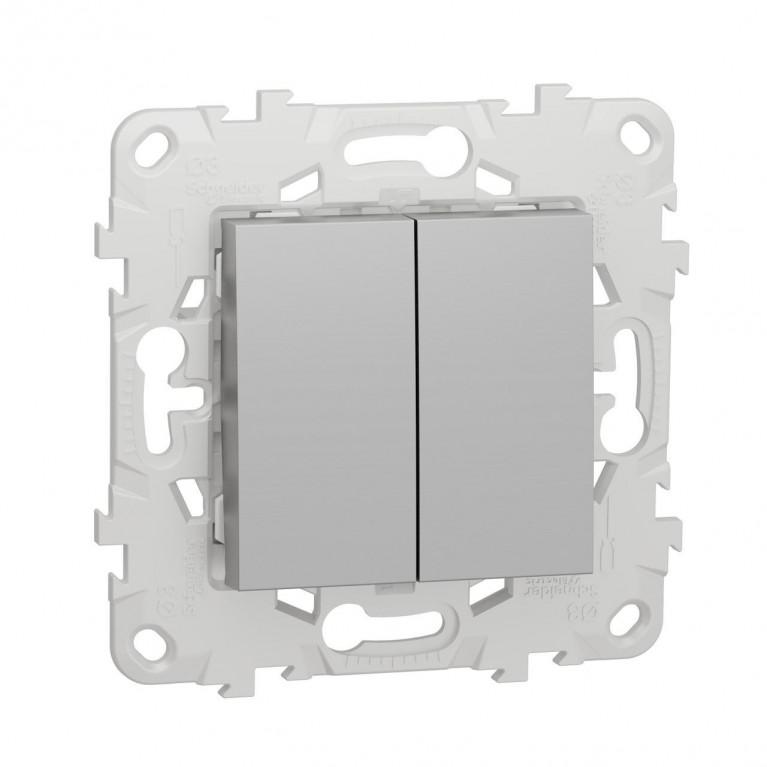 Выключатель двухклавишный Schneider Electric Unica New NU521130