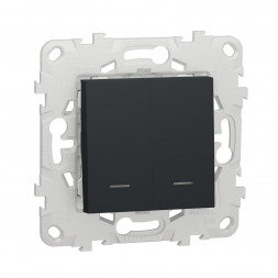 Выключатель двухклавишный Schneider Electric Unica New NU521154N