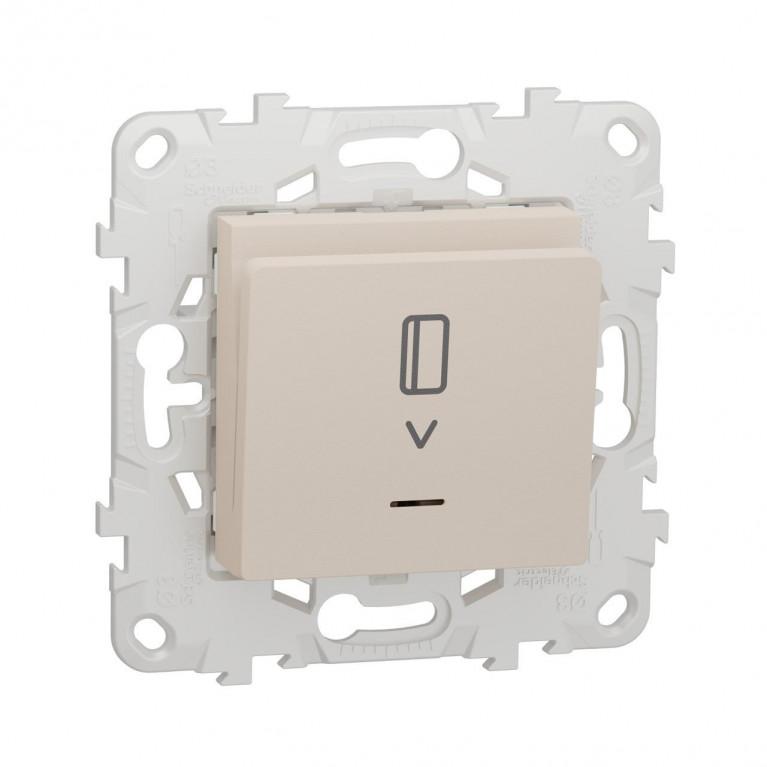 Выключатель карточный Schneider Electric Unica New NU528344