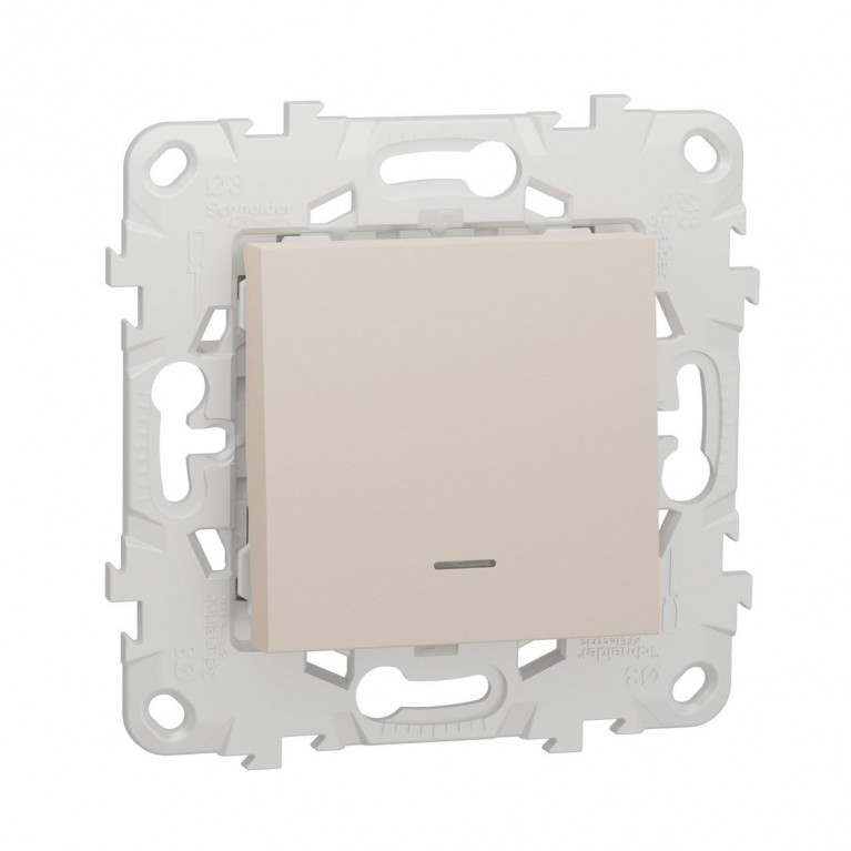 Выключатель одноклавишный Schneider Electric Unica New NU520144N