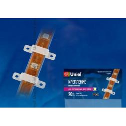 Крепление для светодиодной ленты (06616) Uniel UCC-L08 White 020 POLYBAG
