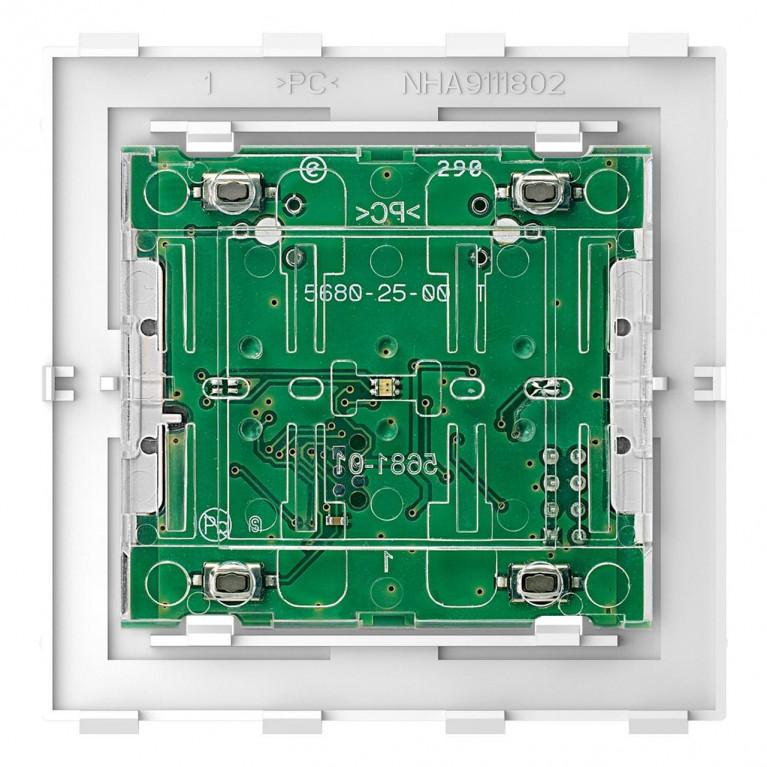 Кнопочный модуль Schneider Electric Merten D-Life PlusLink Basic двухклавишный MTN5120-6000