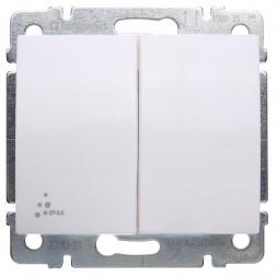 Выключатель двуклавишный Legrand Galea Life 10A 250V IP44 белый 771021