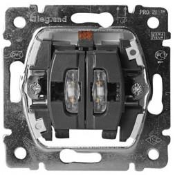 Выключатель двухклавишный Legrand Galea Life 10A 250V с подсветкой 775825