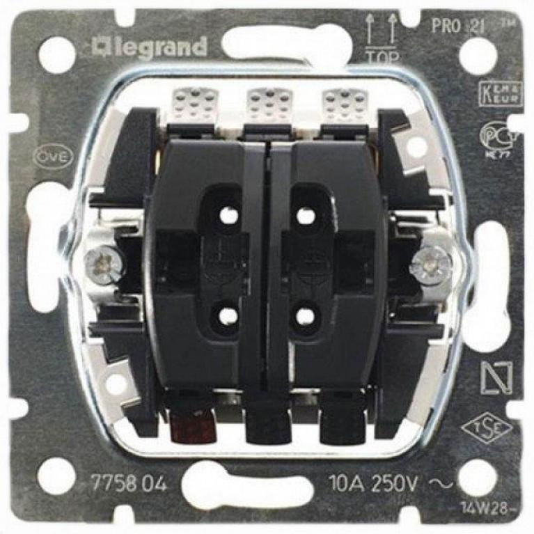 Выключатель двухклавишный Legrand Galea Life 10A 250V управления жалюзи 775804