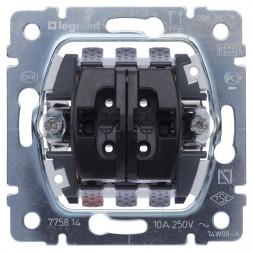 Выключатель двухклавишный кнопочный Legrand Galea Life 10A 250V управления жалюзи 775814