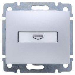 Выключатель карточный Legrand Valena с выдержкой времени и подсветкой алюминий 770234