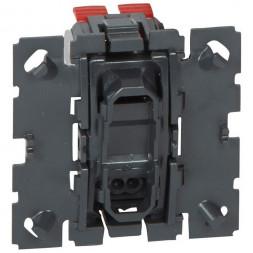 Выключатель кнопочный одноклавишный Legrand Celiane 6A 250V с подсветкой 067034