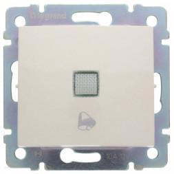 Выключатель кнопочный одноклавишный Legrand Valena 10A 12V с подсветкой Звонок слоновая кость 774315