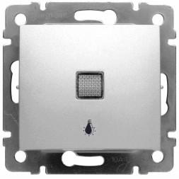 Выключатель кнопочный одноклавишный Legrand Valena 10A 250V Лампа алюминий 770113