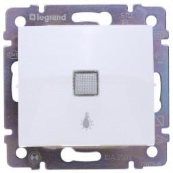 Выключатель кнопочный одноклавишный Legrand Valena 10A 250V Лампа белый 774413