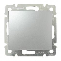 Выключатель кнопочный одноклавишный Legrand Valena алюминий 770111