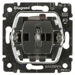Выключатель одноклавишный 2-полюсный Legrand Galea Life 10A 250V с подсветкой 775822