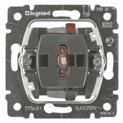 Выключатель одноклавишный Legrand Galea Life 10A 250V с нейтралью подсветкой 775601