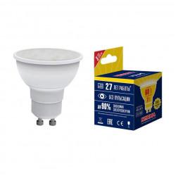 Лампа светодиодная (UL-00003838) GU10 7W 3000K матовая LED-JCDR-7W/WW/GU10/NR