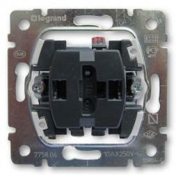 Выключатель одноклавишный Legrand Galea Life 10A 250V с подсветкой 775600