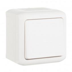 Выключатель одноклавишный Legrand Quteo 10A 250V IP44 белый 782300