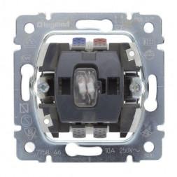 Выключатель одноклавишный кнопочный на 2 направления Legrand Galea Life 10A 250V с нейтралью подсвет