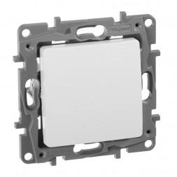 Переключатель одноклавишный Legrand Etika 10A 250V белый 672205