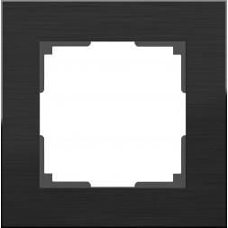 Рамка Aluminium на 1 пост алюминий черный WL11-Frame-01 4690389110443