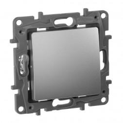 Переключатель одноклавишный промежуточный Legrand Etika 10A 250V алюминий 672409
