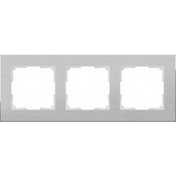 Рамка Aluminium на 3 поста алюминий WL11-Frame-03 4690389073649