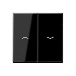 Клавиша двойная жалюзийная Jung A 500 черная A595PSW