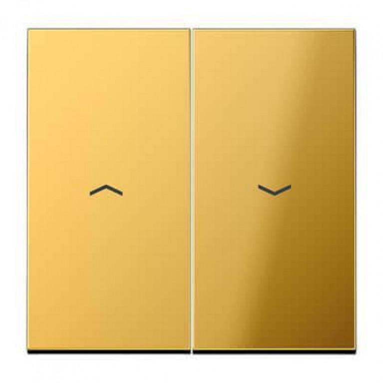 Клавиша двойная жалюзийная Jung LS 990 блеск золота GO2995P