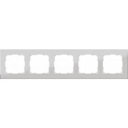 Рамка Aluminium на 5 постов алюминий WL11-Frame-05 4690389073670