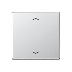 Накладка жалюзийного выключателя с ДУ (радио) нажимного электронного Jung A 500 алюминий A5232FAL