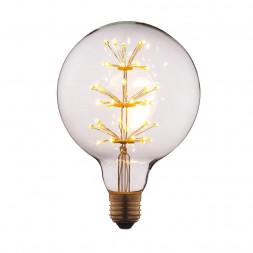 Лампа светодиодная филаментная E27 3W прозрачная G12547LED